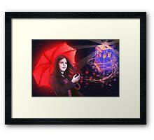 Clara - Tardis in the Wind Framed Print