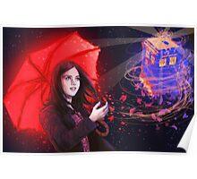 Clara - Tardis in the Wind Poster