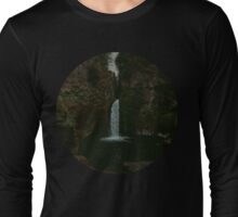 Wahclella Falls - Oregon Waterfall Long Sleeve T-Shirt