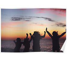 Beach sunrises Poster
