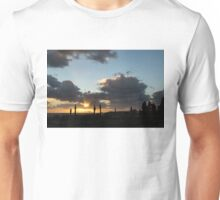 Cypress Sunset - a Very Italian Moment on the Coast of Herculaneum Unisex T-Shirt
