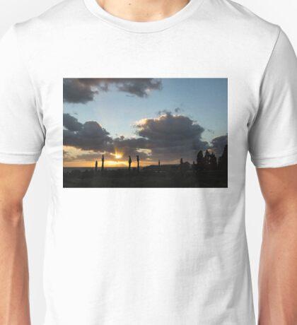 Cypress Sunset - a Very Italian Moment on the Coast of Herculaneum Unisex T-Shirt