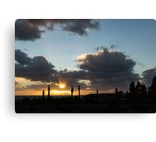 Cypress Sunset - a Very Italian Moment on the Coast of Herculaneum Canvas Print