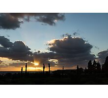 Cypress Sunset - a Very Italian Moment on the Coast of Herculaneum Photographic Print