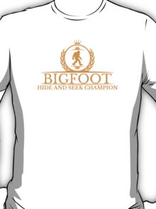 Orange Bigfoot Hide And Seek Champion T-Shirt