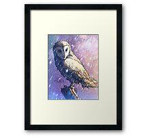 Owl - Showers Framed Print