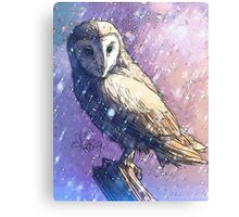 Owl - Showers Canvas Print