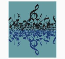 colorful music notes Kids Clothes
