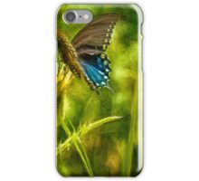 Black Swallowtail No. 2 painterly iPhone Case/Skin