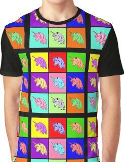 Pop Art Unicorn Graphic T-Shirt