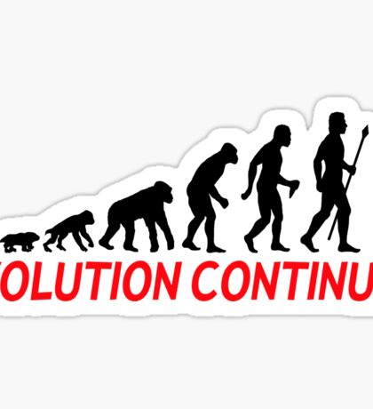 Funny Police Officer Evolution Of Man Continues Sticker