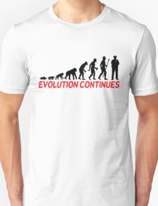 Funny Police Officer Evolution Of Man Continues Unisex T-Shirt