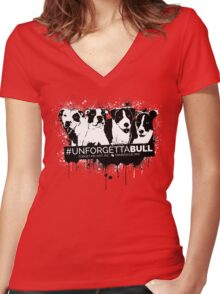 UnforgettaBULL (Pink Collection!) Women's Fitted V-Neck T-Shirt