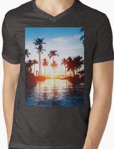 Paradise Mens V-Neck T-Shirt