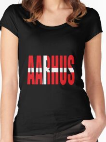 Aahrus. Women's Fitted Scoop T-Shirt