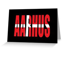 Aahrus. Greeting Card