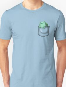 Bulbasaur Sleeping in Pocket Unisex T-Shirt