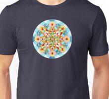 Blue Gingham Pastel Mandala Unisex T-Shirt