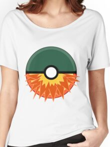 Cyndaquil Themed Complete Poke Ball Women's Relaxed Fit T-Shirt