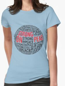The Globe (Red & Black Text) Womens Fitted T-Shirt