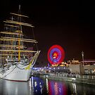 Ships Wheel - Yokohama by Paul Campbell  Photography