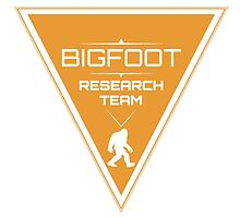 Orange Bigfoot Research Team Triangle by kwg2200