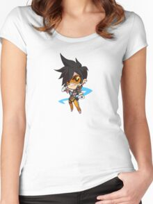 OVERWATCH CUTE TRACER Women's Fitted Scoop T-Shirt
