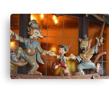 A Fox, A Cat, A Wooden Boy, Marionette Puppet Boy  Canvas Print
