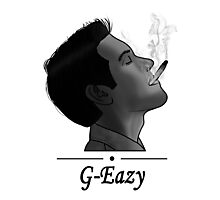 G-Eazy Smoking Photographic Print