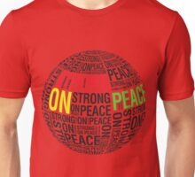 The Globe (Red, Yellow, Green & Black Text) Unisex T-Shirt