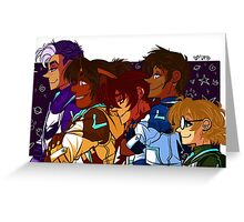 Voltron Squad - Group Greeting Card