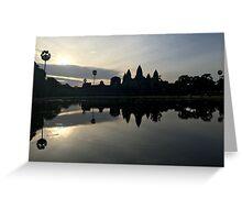 Cambodia - Angkor Wat at sunrise Greeting Card