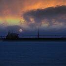 Golden Gate Tanker at Sunset by David Denny