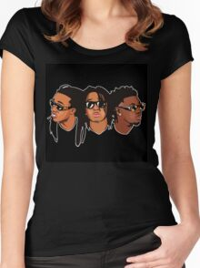 Migos Drawing Art Women's Fitted Scoop T-Shirt