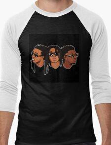 Migos Drawing Art Men's Baseball ¾ T-Shirt