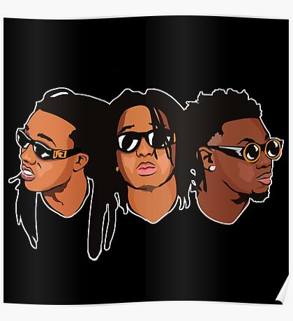 Migos Drawing Art Poster