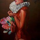 """Lady with proteas""(original sold by Saachi Gallery) by Tatyana Binovskaya"