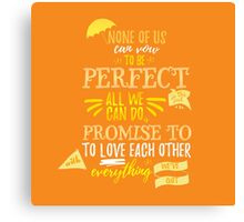 Love is the Best Thing We Do Canvas Print
