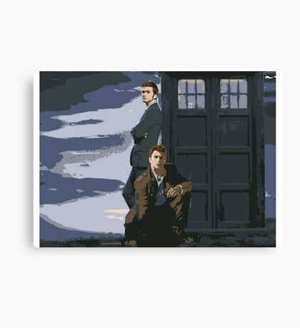 Doctor Who and Jack Canvas Print