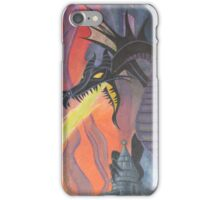 Fire Breathing Dragon Fights (some guy) iPhone Case/Skin