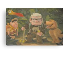 Dug, Kevin, Carl, Ellie, Balloons, Russell, Floating House Canvas Print