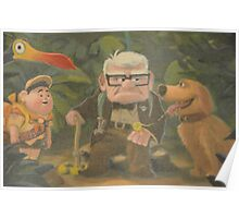Dug, Kevin, Carl, Ellie, Balloons, Russell, Floating House Poster