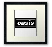 oasis band logo Framed Print