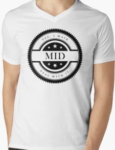 Yes, I Main Mid (Black Text) Mens V-Neck T-Shirt