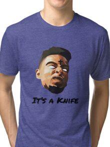 """21 Savage """"It's a knife"""" Tri-blend T-Shirt"""