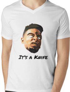 "21 Savage ""It's a knife"" Mens V-Neck T-Shirt"