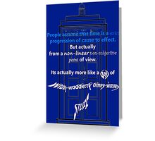 Wibbly-Wobberly Timey-Wimey Greeting Card