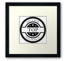 Yes, I Main Top (Black Text) Framed Print