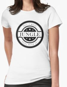 Yes, I Main Jungle (Black Text) Womens Fitted T-Shirt