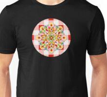 Red Gingham Pastel Mandala Unisex T-Shirt